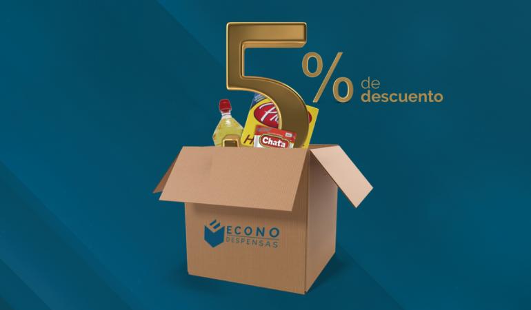 Econodespensas busca ayudar a la economía familiar y empresarial con un 5% de descuento